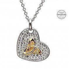 Trinity Pendant With Swarovski Crystals