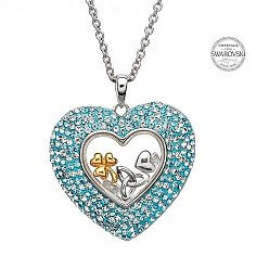 Heart Pendant With Swarovski Crystals