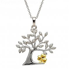 Tree of Life Shamrock Pendant