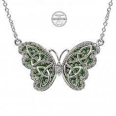 Pendentif papillon Trinity avec cristaux Swarovski