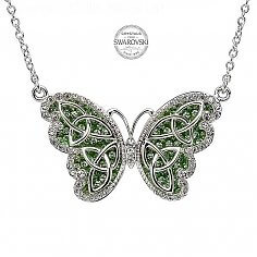 Trinity Butterfly Pendant With Swarovski Crystals