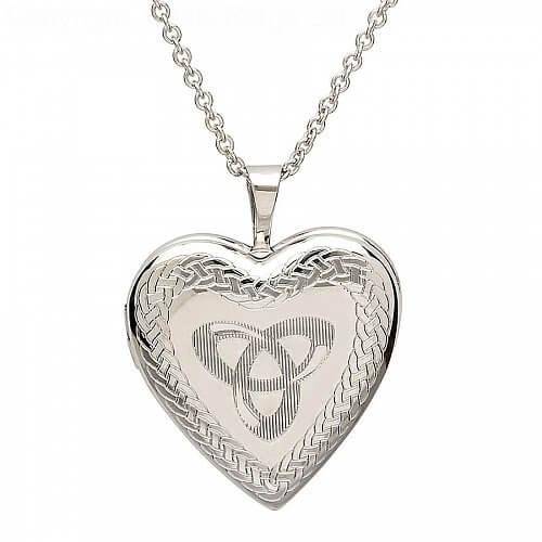 Silver Trinity Knot Locket