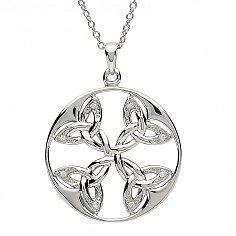 Celtic Silver Trinity Knot Pendant
