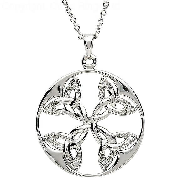Trinity knot circle pendant celtic rings ltd trinity knot circle pendant aloadofball Choice Image