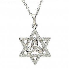 Silver Trinity Star Celtic Pendant
