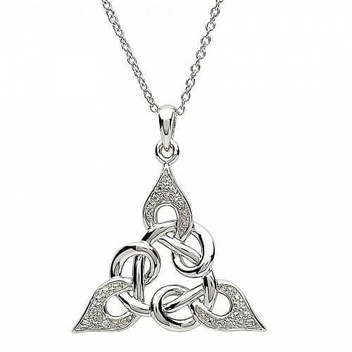 Keltischer Knoten Design Silber Anhänger