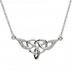 Elegant Celtic Knot Design Silver Pendant