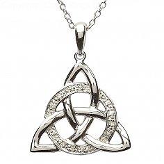 Trinity Knot Diamond Set Pendant