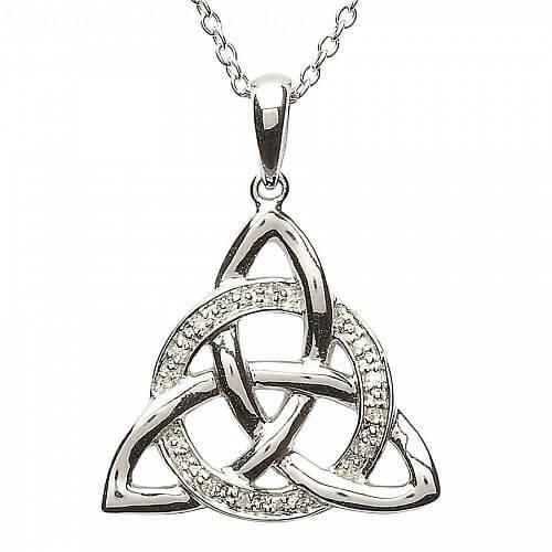 Pendentif Trinité noeud diamant