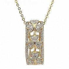 Diamond Shamrock Pendant 10K Gold