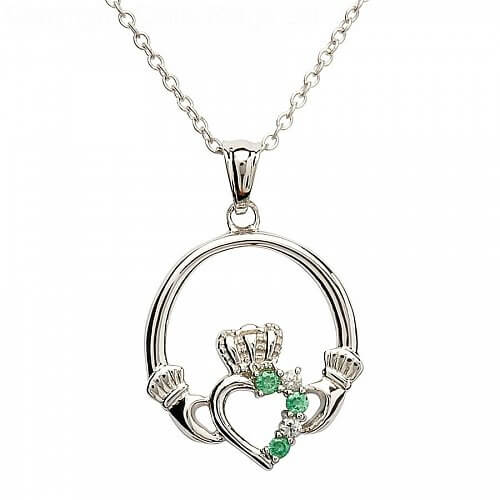 green img arcade pendant stone jewellers claddagh products