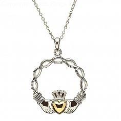 Celtic Knot Claddagh Pendant