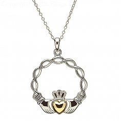 Celtic Knot Claddagh Pendentif