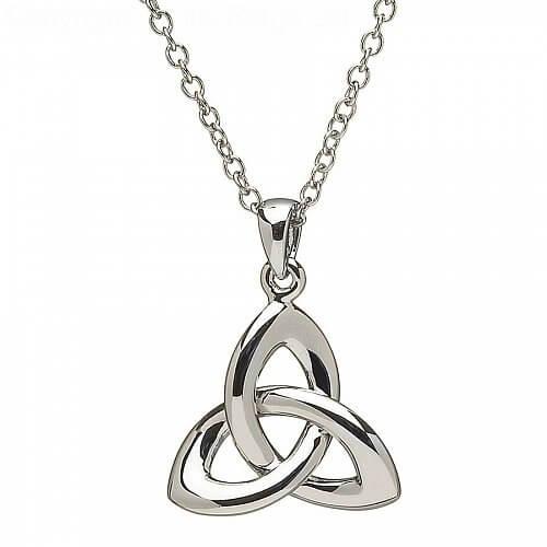 Keltischer Trinity Knoten Silber Anhänger
