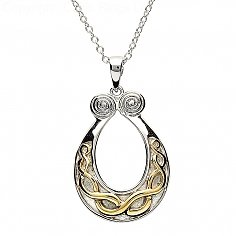 Silver Celtic Knot Gold Plate Pendant