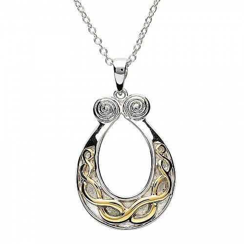 Pendentif noeud celtique plaqué or