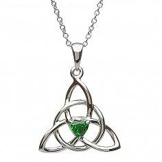 Trinity Smaragd Herz Anhänger
