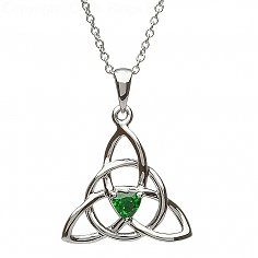 Trinity Emerald Heart Pendant