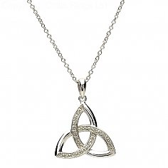 Keltischer Dreifaltigkeits-Diamantsatzanhänger