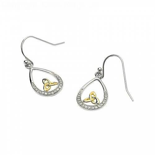 Silbereinlage Trinity Knoten Ohrringe