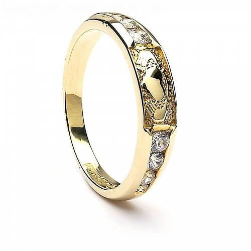Claddagh CZ Eternity Ring