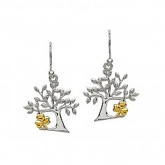 Tree Of Life Shamrock Earrings