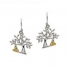 Tree Of Life Trinity Knot Earrings