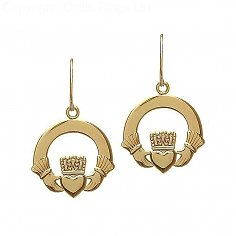 10K Gold Original Claddagh Earrings