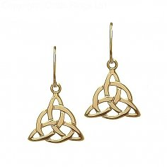 10K Yellow Gold Celtic Earrings