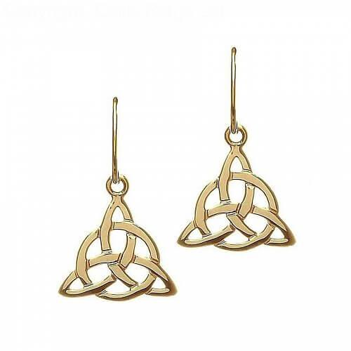 10K Yellow Gold Celtic Earrings