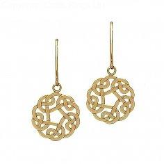 Gold 10K keltischer Knoten-Ohrringe