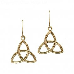 Elegant Trinity Knot Earrings - Yellow Gold
