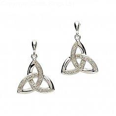Diamant Trinity Knoten Ohrringe