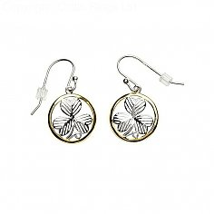 Irish Shamrock Design Silver Earrings
