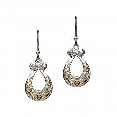 Silver Celtic Claddagh Earrings