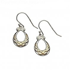 Silver Celtic Knot Design Earrings