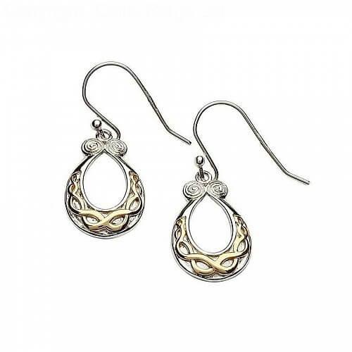 Silberne keltische Knoten Design Ohrringe