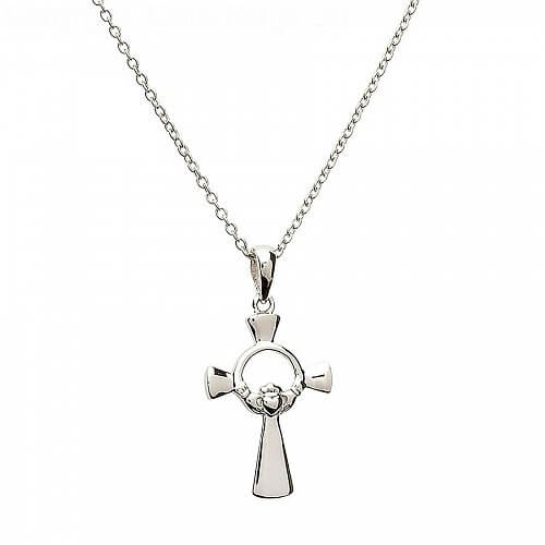 Small Claddagh Cross - Silver
