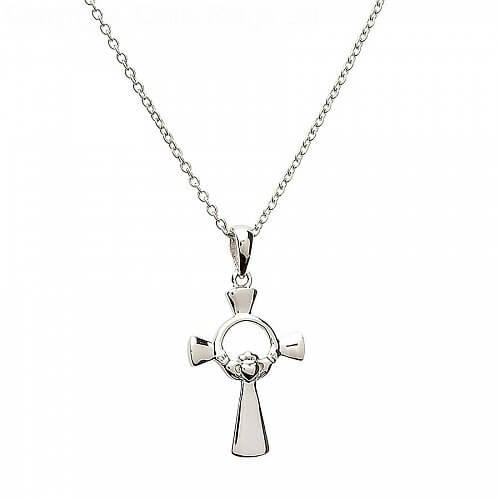 Kleines Claddagh Kreuz - Silber