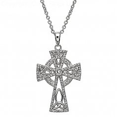 Croix avec cristaux Swarovski - Argent