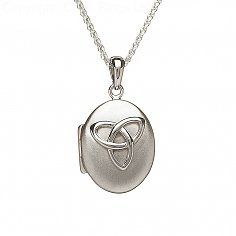Poliertes Silber Trinity Knoten Medaillon