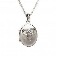 Polished Silver Trinity Locket