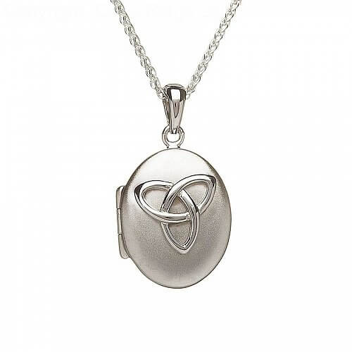 Polished Silver Trinity Locket