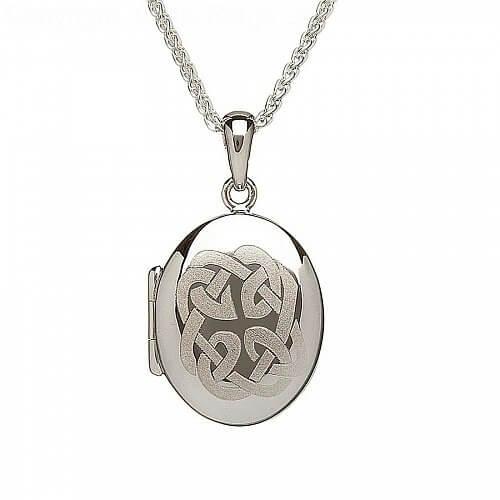 Engraved Celtic Knot Locket