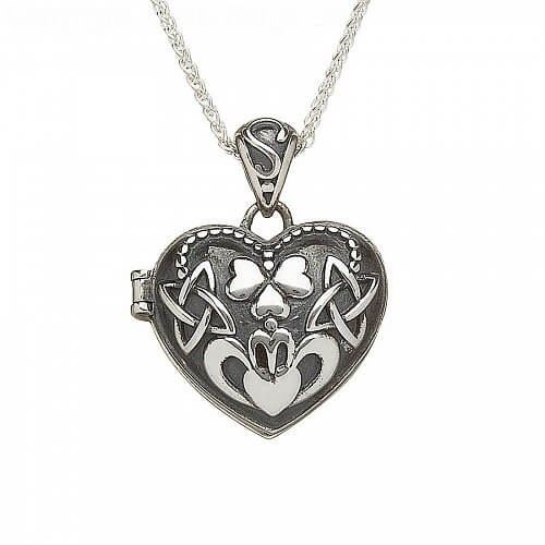 Oxidised Silver Claddagh Locket