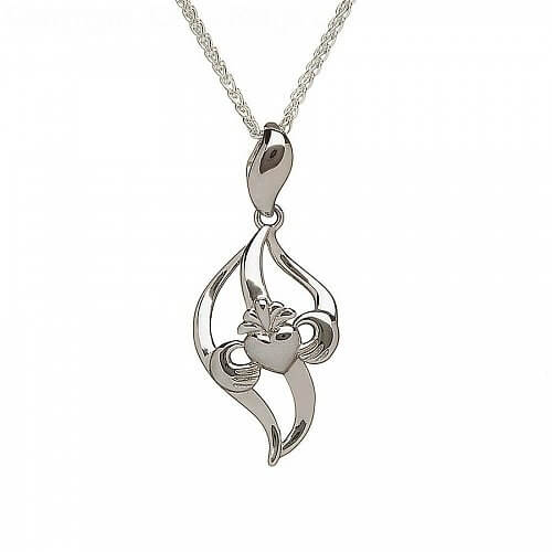 Pendentif Claddagh courbe Argent