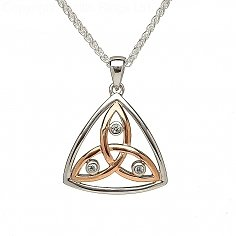 Silver and Rose Gold Trinity Pendant
