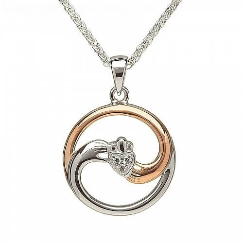 Silver Yin Yang Claddagh Pendant