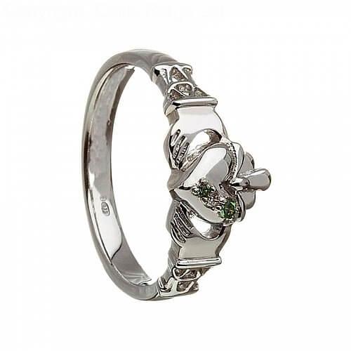 Women's Three Stone Claddagh Ring