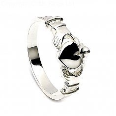 Mens Contemporary Claddagh Ring
